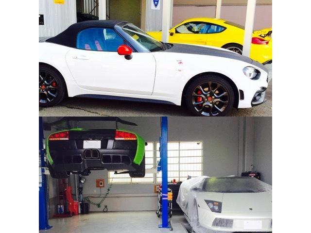 輸入車専用診断機を設置し全て自社にて整備を行っております